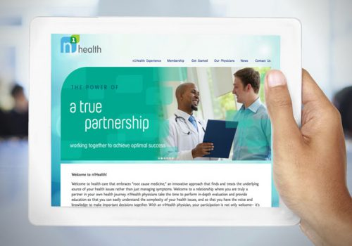 N1Health Logo, Identity And Web Design.