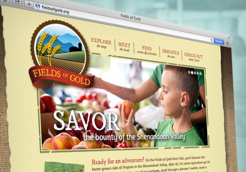 Fields Of Gold Website Design And Custom Google Map