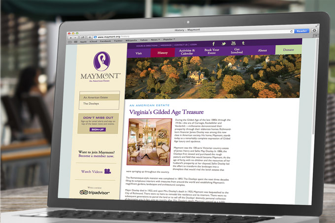 Maymont Website Design