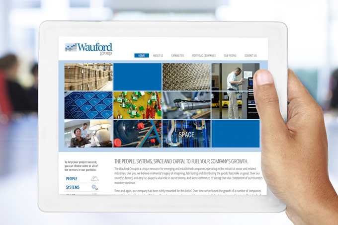 Wauford Website Design Tablet