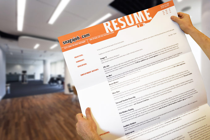 Snag-A-Job - Giant Resume