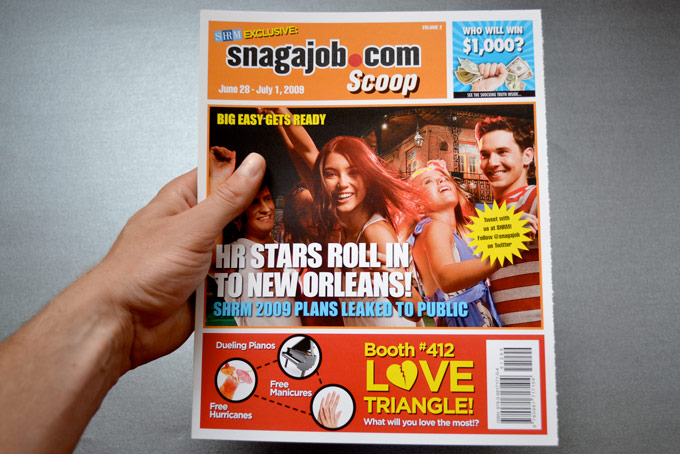Snag-A-Job - Promotional Faux-tabloid Mag