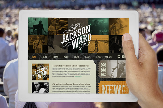 Jackson Ward Music Website Design
