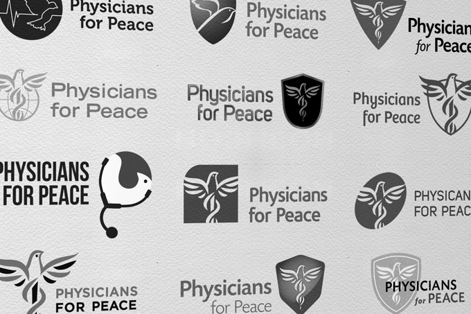 Physicians For Peace - Logo Design Process