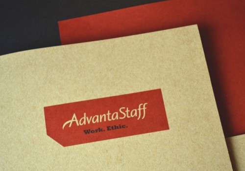 AdvantaStaff Website Design And Print Collateral.