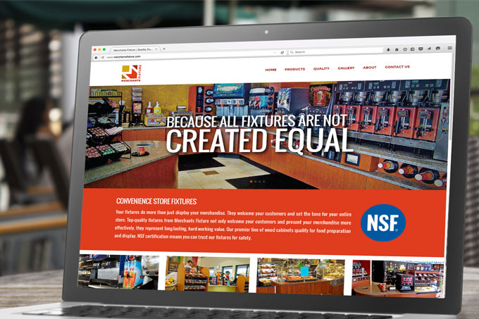 Merchants Fixture Website Design