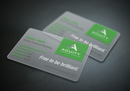 Acuity Marketing Materials